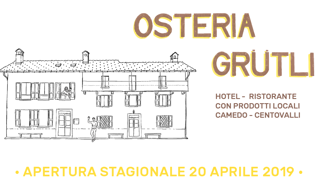 Osteria Grütli Open for the season